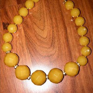 J. Crew yellow beaded necklace
